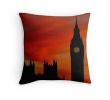 Fiery Silhouette Throw Pillow