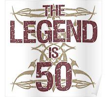 Men's Funny 50th Birthday Poster