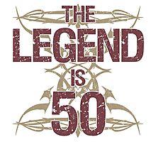 Men's Funny 50th Birthday Photographic Print