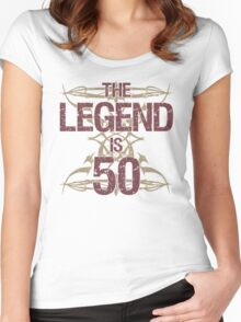 Men's Funny 50th Birthday Women's Fitted Scoop T-Shirt