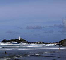To the Lighthouse-Godrevy by Rick Dunstan