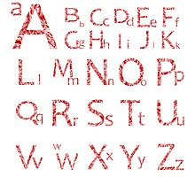 Abstract alphabet Photographic Print