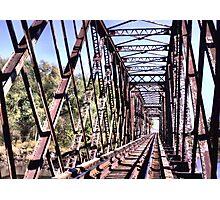 Train Trestle near Booneville Iowa Photographic Print
