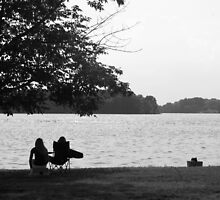 Two girls by Lake Barkley by Benjamin Kaufman