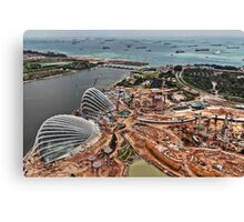 Singapore Gardens by the Bay - Under Construction Canvas Print