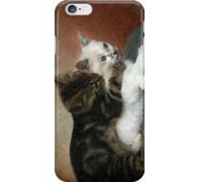 Kittens at play: Huggies and Pampers...  iPhone Case/Skin
