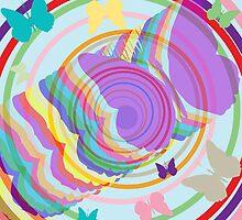 Abstract butterflies by Laschon Robert Paul