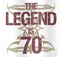 Men's Funny 70th Birthday Poster