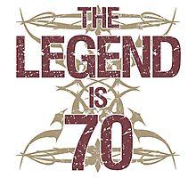 Men's Funny 70th Birthday Photographic Print