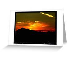 Sunrise over the Cascade Range Greeting Card