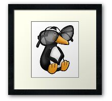 Penguin with Eyeglasses Framed Print