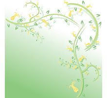 Abstract floral background Photographic Print