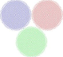 Abstract graphic circles by Laschon Robert Paul