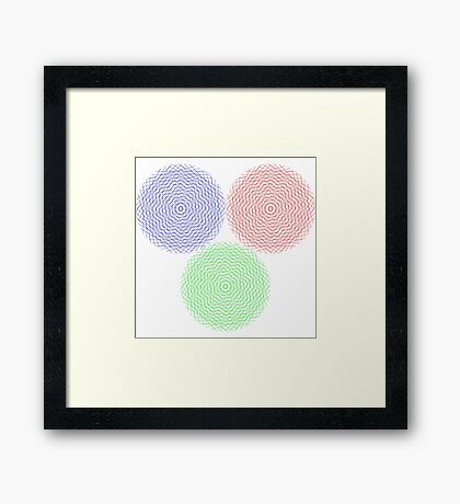 Abstract graphic circles Framed Print