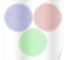 Abstract graphic circles Poster