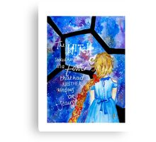 The Lunar Chronicles- Cress w/ Quote Canvas Print
