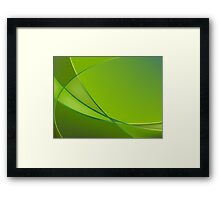 Abstract green background Framed Print