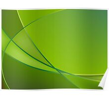 Abstract green background Poster