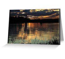 11930 Peek a Boo sunset Greeting Card
