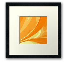 Abstract orange background Framed Print