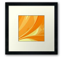 Abstract orange background Framed Print
