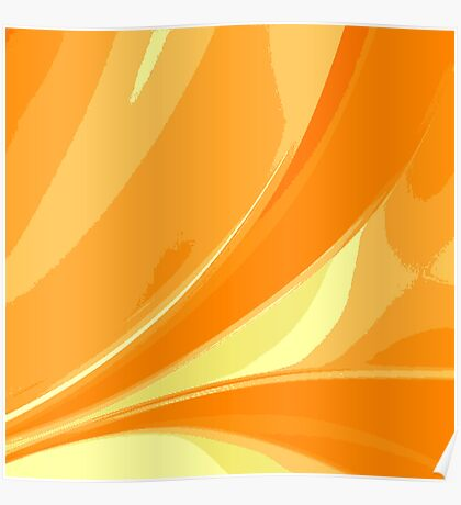 Abstract orange background Poster