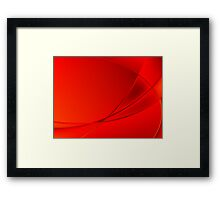 Abstract red background Framed Print