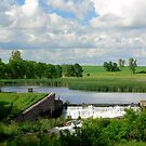 Lake and Dam Blue Mounds State Park by hastypudding