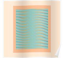 Abstract waves photo frame Poster