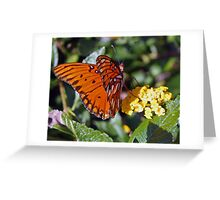 Fluttering bye Greeting Card
