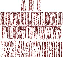 Alphabet abstract letters by Laschon Robert Paul