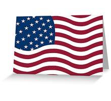 American flag vector Greeting Card