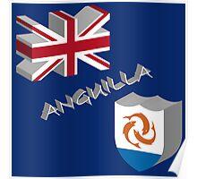 Anguilla 3d flag Poster