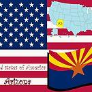 Arizona state illustration by Laschon Robert Paul