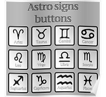 Astro sign buttons Poster