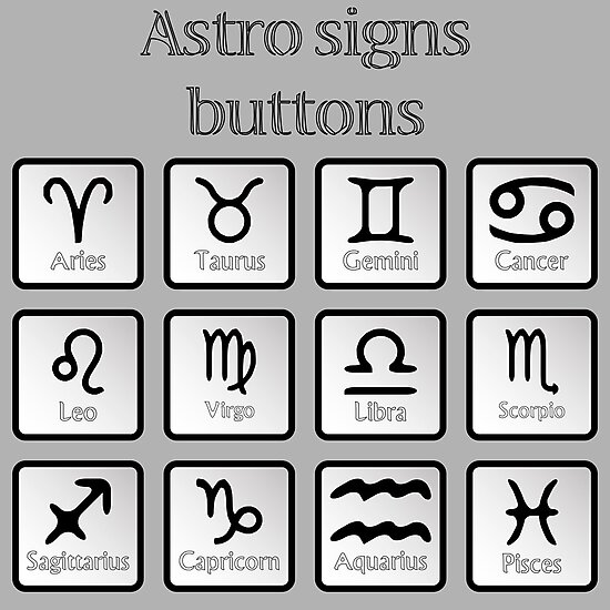 Astro sign buttons by Laschon Robert Paul