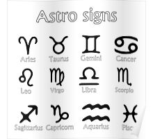 Astro signs Poster