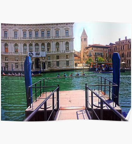 Rowing on the Grand Canal Poster
