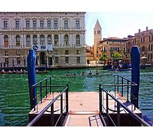 Rowing on the Grand Canal Photographic Print