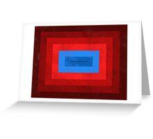 Superman Squared Greeting Card