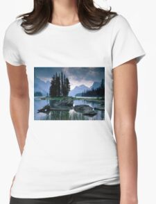 Maligne Lake after a Storm Womens Fitted T-Shirt