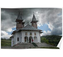 Orthodoxy Church in mountains, Romania, Targoviste region Poster