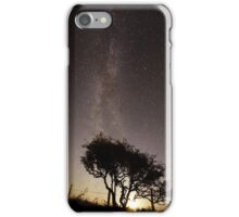 Milky Way and Hawthorn Tree iPhone Case/Skin