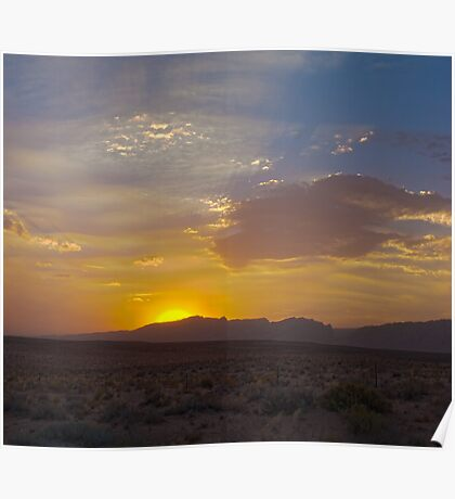Glorious desert sunset Poster