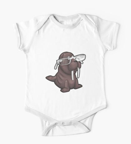Walrus with Eyeglasses One Piece - Short Sleeve