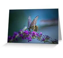 A butterfly's calling me . . . Greeting Card