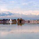 Dal Lake after a snowy night  by Brian Bo Mei