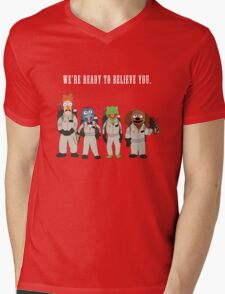 We're Ready to Believe You Mens V-Neck T-Shirt