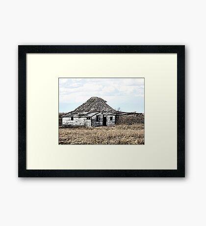 Their Old Prairie Home. Framed Print