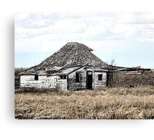 Their Old Prairie Home. Canvas Print
